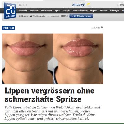 Lippen vergrössern - 20min schweiz-min