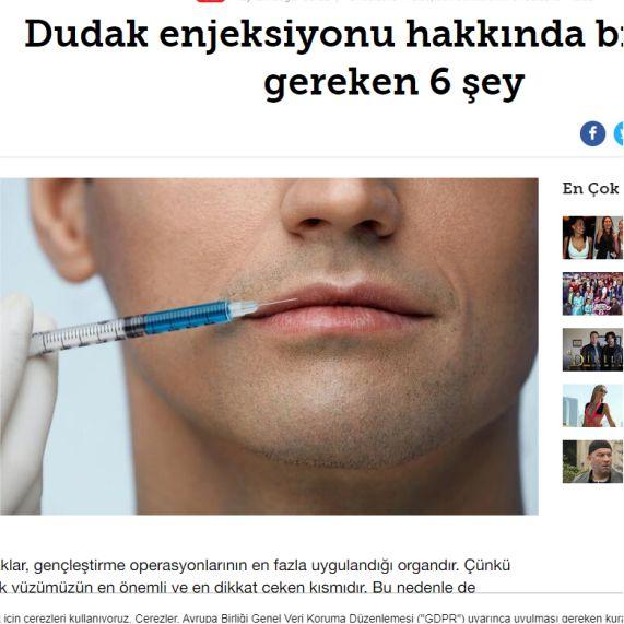 Sinject Hyaluron pen otomatik - dudak dolgusu - hurriyet kelebek
