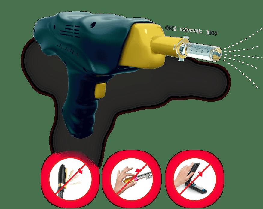 SInject Automatisch Hyaluron Nadelfreies Applikationssystem - HYaluron Pen